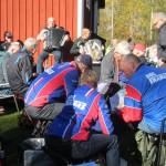 Bengt och Yngve underhöll med musik och om klubbstugans tillkomst